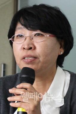 ▲ 한울사회복지연구소 장혜경 소장이 연구결과를 발표하고 있다. ⓒ정유림 기자