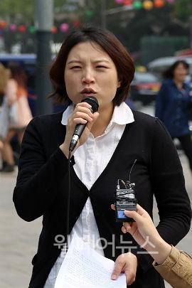 ▲ 장애와인권발바닥행동 김정화 활동가