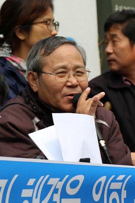 ▲ 석암재단생활인인권확보를위한공동투쟁단 김진수 활동가