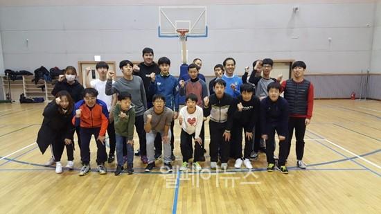 ▲ 아산시장애인복지관 지적청소년농구팀 아산BIGS. ⓒ아산시장애인복지관