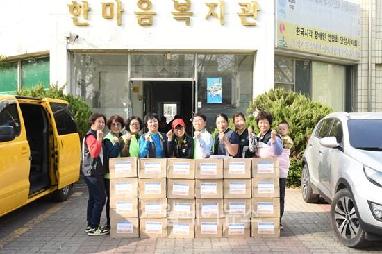 ▲ 올해 4번째 이동푸드마켓 행사를 진행 중인 한성시사회복지협의회 ⓒ안성시사회복지협의회